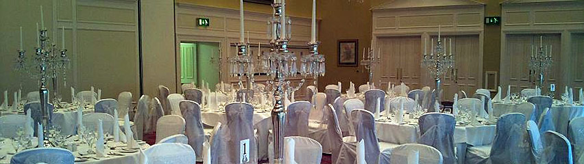 Gisborough Hall - crystal droplet candelabras