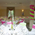 Judges Hotel - hot pink and lime green bows