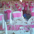 Gisborough Hall - hot pink bows