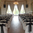 Rushpool Hall Blue Room - black bows