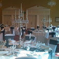 Gisborough Hall - black bows and candelabras
